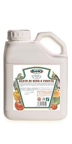 Bioki Vinagre Concentrado - Vinagre Blanco Natural – Concentrado de 18 °-antiburbujas professionnelle- (bidón de 5 L)