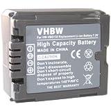 vhbw Batterie 1000mAh (7.2V) pour PANASONIC, remplace le modèle VW-VBG130 - avec puce de contrôle du chargement, compatible avec le chargeur original