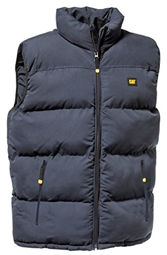 Caterpillar Mens Navy Blue Body Warmer Quilted Insulated Workwear Vest C432 Lge