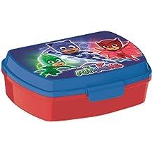 BBS PJ Masks Contenedor Snack, Plástico, Azul y Rojo, 17x13.5x6 cm