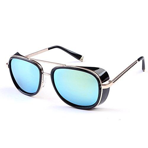 Sonnenbrille für Frauen Männer Vintage Designer Sonnenbrille für das Fahren Urlaub Reisen, UV400 Schutz (Farbe : A)