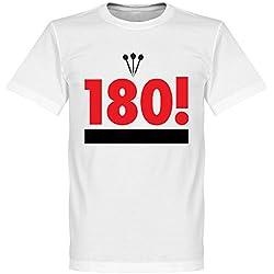 180. dardos camiseta, Unisex, blanco, large