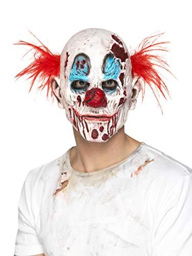 Smiffys Herren Zombie Clown Maske mit Haaren, Ganzer Kopf, One Size, Bunt, 45021