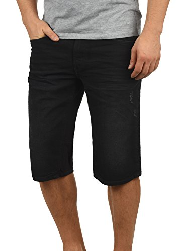 Blend Denon Herren Jeans Shorts Kurze Denim Hose Aus Stretch-Material Regular Fit, Größe:S, Farbe:Denim Black (76204)