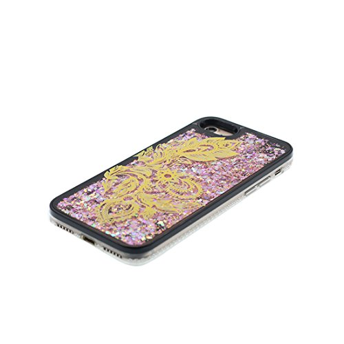 "Hülle iPhone 6, [ Liquid Fließendes Glitzer Bling Bling Floating sparkles] iPhone 6S Handyhülle Cover (4.7 zoll), iPhone 6 Case Shell (4.7"") Anti-Beulen & Touchstift - (Make-up Elegant) Schwarz 2"