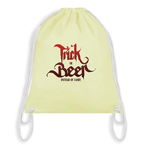 Halloween - Trick or Beer Halloween Typo - Unisize - Pastell Gelb - WM110 - Turnbeutel & Gym Bag