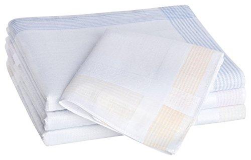 Tobeni 12 Stück Damen Taschentücher Stofftaschentücher Damentaschentücher Baumwolle Farbe Design 12 Grösse 30 cm x 30 cm -