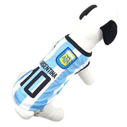 Alfie Pet by Petoga Couture Fellpflege-ESRA Soccer Jersey-Farbe: Argentinien, 5XL, Blau