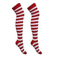Zeetaq Kids Boys Girls Children Red and White Striped T-Shirt Hat Fancy Dress Costume UK Size 5-13 Years