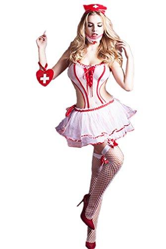 6Moon Sexy Krankenschwester-Kostüm 6-teilig Gr. 36-40 9706