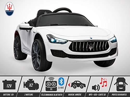 Voiture électrique enfant KINGTOYS - Maserati Ghibli 50W - Blanc