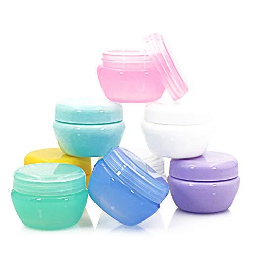 8pcs Pot Cosmétique Vide en plastique avec couvercle pour ombre à paupières, ongles, poudre, peinture, bijoux-5g