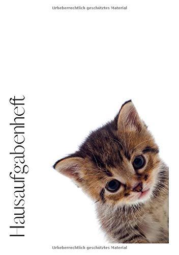Hausaufgabenheft: Notizbuch  Katze für Hausaufgaben zum Notieren von Schularbeiten Stundenplänen Noten Adressen und was sonst noch wichtig ist. -