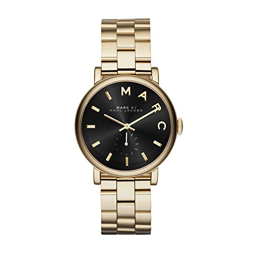 marc-jacobs-womens-quartz-watch-with-black-dial-analogue-display-and-gold-stainless-steel-bangle-mbm