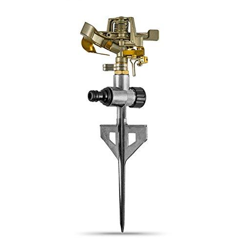 CLGarden Rasensprenger RS3 - massiv aus Metall - Kreisregner 360°