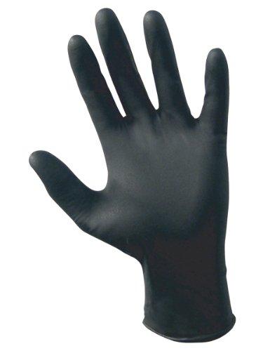 SAS Safety 66519 Raven Powder-Free Black Nitrile 6 Mil Gloves, XL by SAS Safety