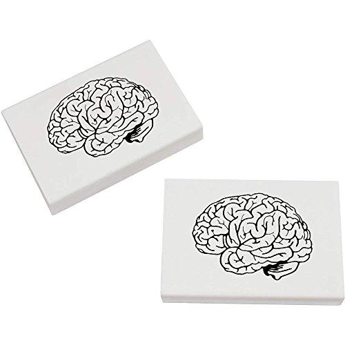 (Azeeda 2 x 45mm 'Menschliches Gehirn' Radiergummis (ER00016775))