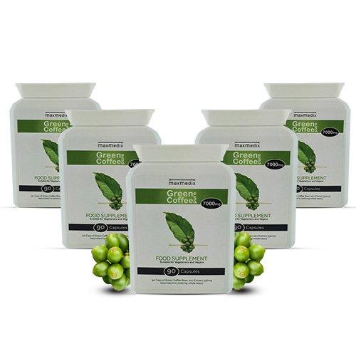 Green Coffee x 5 - Risparmia il 30% su Estratto di Caffè Verde 5 mesi