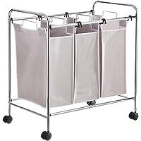 AmazonBasics - Organizador de la colada con 3 cestos