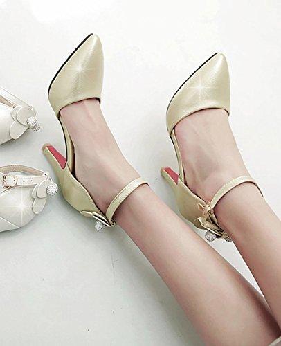 MissSaSa Donna Scarpe col Tacco Primavera-Estate Sweet Oro chiaro