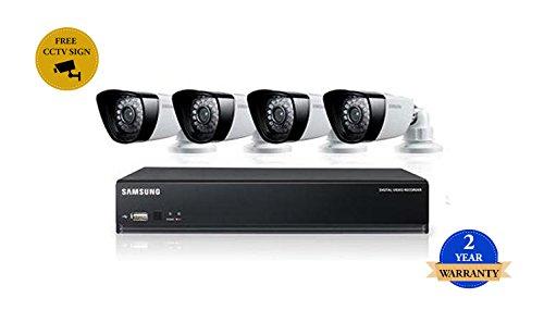 SS300 - SAMSUNG SDS-P3042 4-Kanal-DVR Sicherheitssystem 1TB HDD mit 4 BOX IP66 KAMERAS WETTER 720TVL und Nachtsicht Samsung Dvr