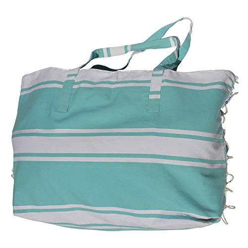 Just a Joy - Extra große Strandtasche - Hamam Design - Ibiza Blau