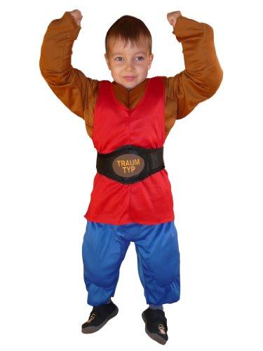 Seruna To70 98-104 Muskelmann Kostüm Kind Kinder Kostüme für Karneval Fasching (Mädchen Superhelden Kostüm Ideen)