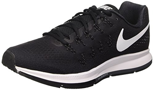 Nike Air Zoom Pegasus 33 - Zapatillas de running para hombre, color negro (black / white-anthracite-cl grey), talla 47 1/2