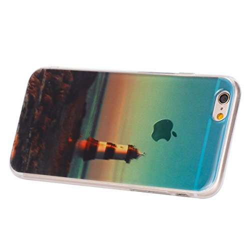 Felfy pour iPhone 6 Plus Silicone Case,iPhone 6S Plus Coque Coque Souple Transparente TPU Silicone en Gel Case Premium Ultra-Light Ultra-Mince Skin de Protection Pare-Chocs Anti-Choc Bumper pour Apple Lookout