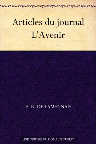 Couverture du livre Articles du journal L'Avenir