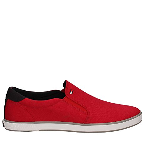 Tommy Hilfiger Iconic Slip On Sneaker, Baskets Homme Rouge (Tango Red 611)