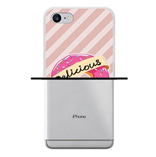 iPhone 7 Hülle, WoowCase Handyhülle Silikon für [ iPhone 7 ] Weisse Schokolade und Waffel Handytasche Handy Cover Case Schutzhülle Flexible TPU - Transparent Housse Gel iPhone 7 Transparent D0559
