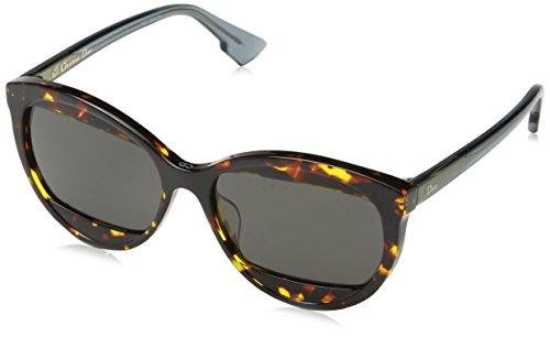 Christian Dior DIORMANIA2 IR TV9, Gafas de Sol para Mujer, Marrón Petrol BW Black/Grey Blue, 57