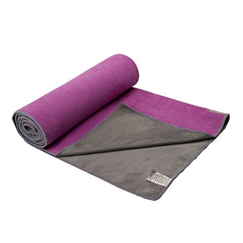 gaiam-dual-grip-yoga-mat-towel-radiant-orchid