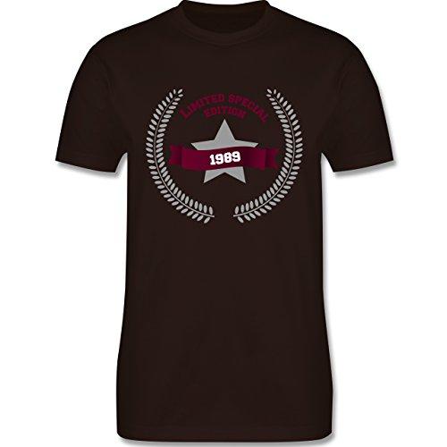 Geburtstag - 1989 Limited Special Edition - Herren Premium T-Shirt Braun