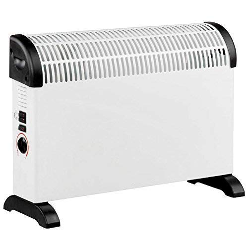 Daewoo Free Standing Bedroom/Kitchen 2000W Convector Heater with 3 Heat Settings, Safety Cut-Out Function with…