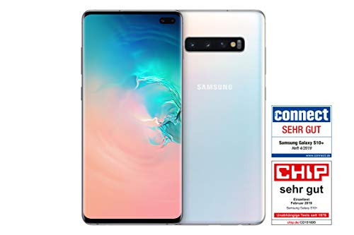 Samsung Galaxy S10+ Smartphone (16.3cm (6.4 Zoll) 128GB interner Speicher, 8GB RAM, Prism White) - Deutsche Version
