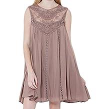 Kleid damen Kolylong® Frauen Elegant Spitze Ärmelloses Kleid Kurz Vintage  Spitzenkleid Sommer Chiffon Strandkleid Festlich ca5ad1ca72