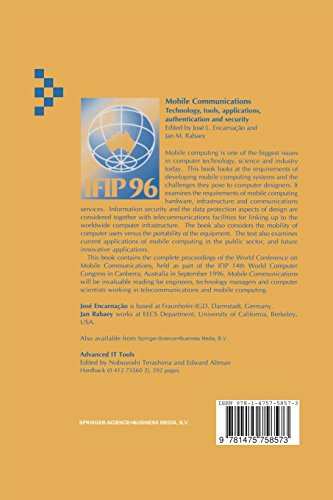 Mobile Communications: Technology, tools, applications, authentication and security IFIP World Conference on Mobile Communications 2 – 6 September ... in Information and Communication Technology)