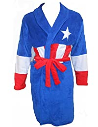 The Avengers Mens Novelty Fleece Dressing Gown Fleece Bath Robe House Coat One Size