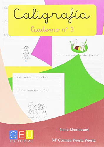 Caligrafía con Pauta Montessori - Cuaderno 3