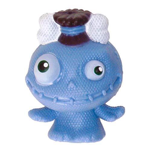Mini Monster Stressball in blau mit Knochen im Haar - Baby Monster Antistressball Knautschball Knetball