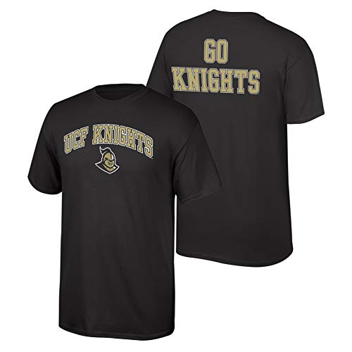 eLITe Fan Shop NCAA Men's Central Florida Golden Knights T Shirt Team Color Back UCF Knights Black Medium Ucf Golden Knights