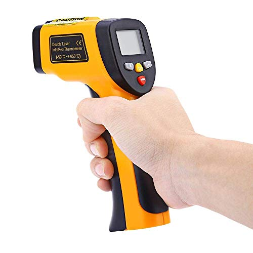 PICKVILL Non-Contact Digital Laser Infrared Thermometer Temperature Gun -58 °F - 1022°F(-50°C - 550°C) MAX Display, EMS Adjustable Function.