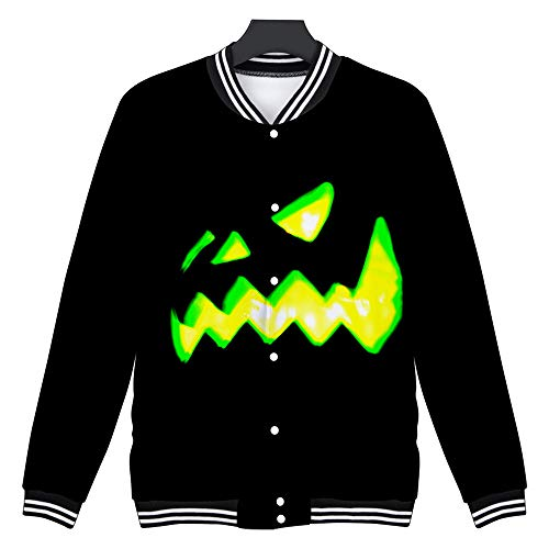Halloween Paare Scary Kostüm - SSUPLYMY Mens Casual Sweatshirt Scary Halloween Liebhaber 3D Blumenmuster Party Langarm NOhoodie Top Bluse Liebhaber Party Langarm NOhoodie Top Bluse Langärmeliges Halloween Hemd