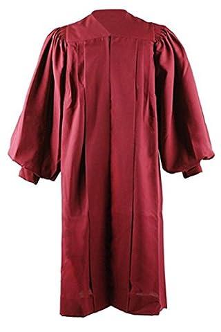 ivyrobes chœur mixte adulte cannelée Peignoir avec manches manchette - rouge - XL