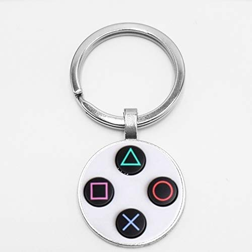 DADATU Schlüsselanhänger Game Controller Schlüsselanhänger Playstation Kreative Schmuck Video Spiel Controller Muster Schlüsselanhänger Geschenke Für Männer (Schlüsselanhänger Video-spiele)