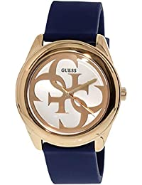 Guess G Twist Analog White Dial Women's Watch - W0911L6