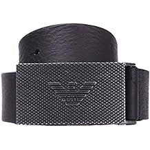 0ed6f440bbec Emporio Armani Plaque Homme Belt Noir