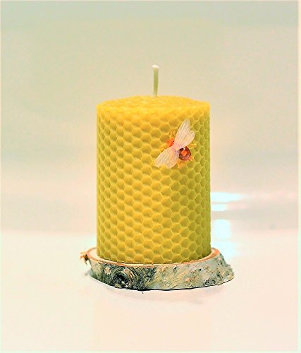 100-beeswax-pillar-candle-size-6-x-8-cm-hand-rolled-unscented-natural-honey-scent-100-handmade-eco-c